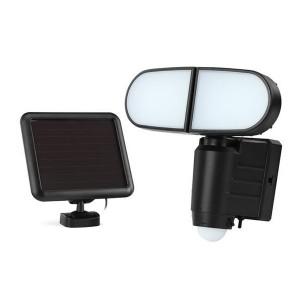 Solar Powered Motion Sensor Dual Head LED Flood Light
