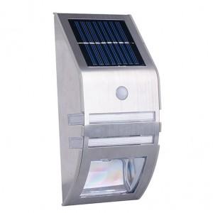 Solar motion sensor LED wall light
