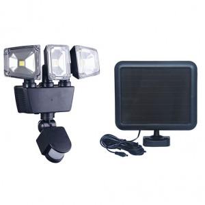 Solar motion senor LED Flood Light 3head